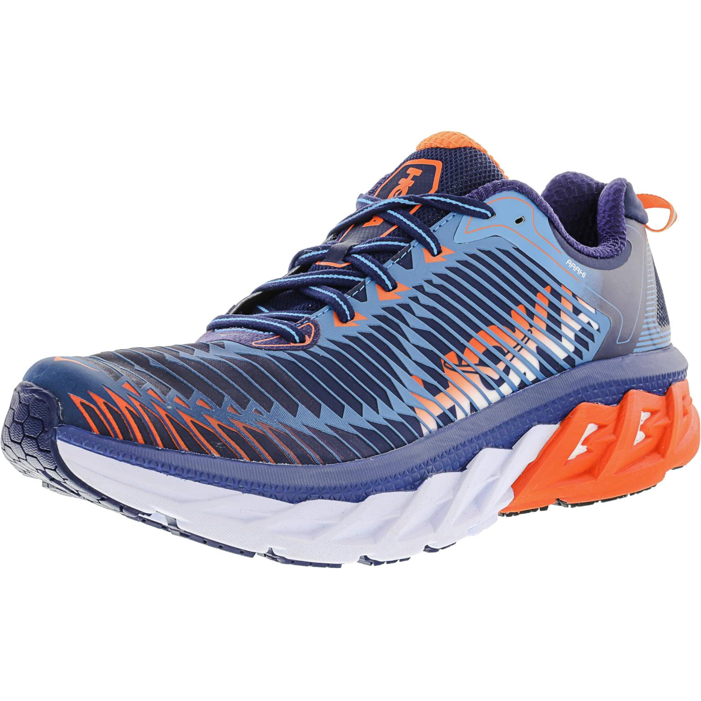 Hoka One Men s Arahi Medieval Blue   Red Orange Ankle-High Running Shoe -  10M 112148994d6