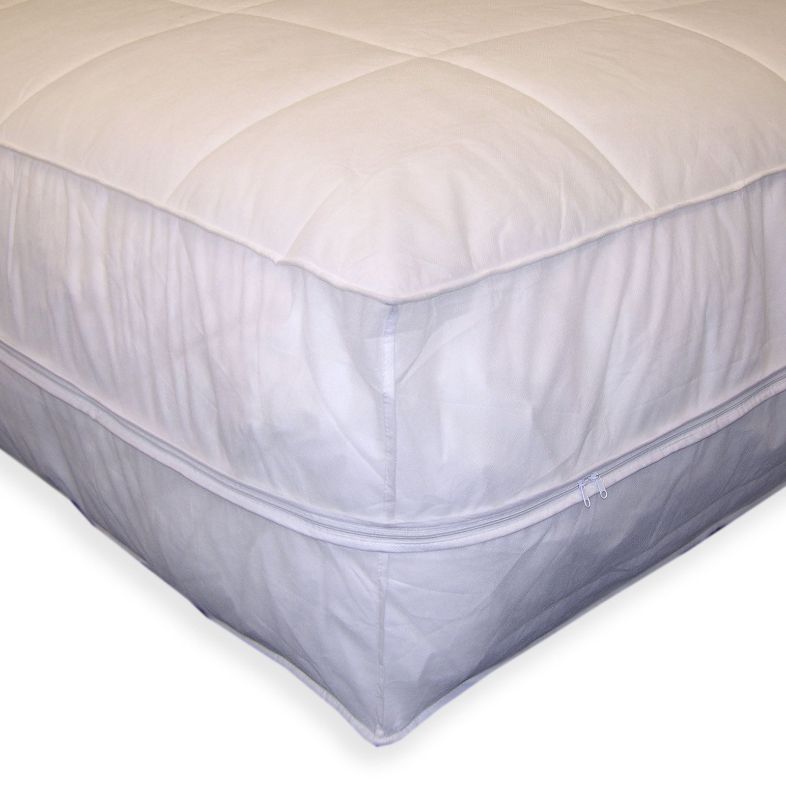 Permafresh Bed Bug and Dust Mite Control Water-Resistant Polypropylene All-In-1 Mattress Pad and Protector