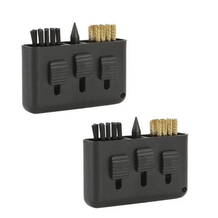 Golf Club Brush, 2 Pack 3 in 1 Retractable Multiple-use Golf Club Groove Cleaners, for Golf Club Ball Divot Kit Pocket Cleaner