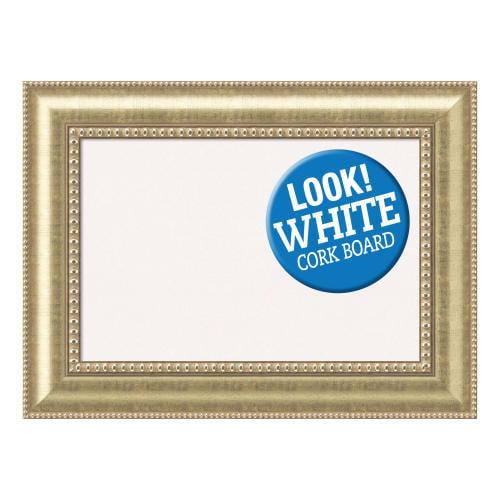 Amanti Art DSWASTCB3123 Astoria 31 Inch x 23 Inch Framed White Cork Board
