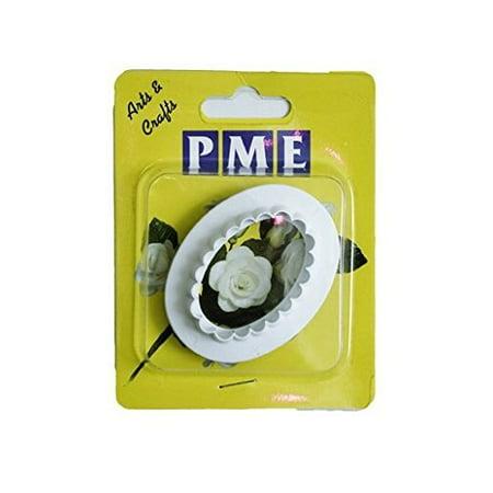 PME Plain & Fluted Medium OVAL Plastic Icing Cut Out Cutters Sugarcraft Plain Oval Cutter