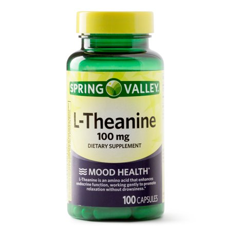 Free Test 100 Capsules - Spring Valley L-Theanine Capsules, 100 mg, 100 Ct