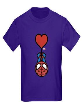 CafePress - Spider Man Heart Kids Dark T Shirt - Kids Dark T-Shirt