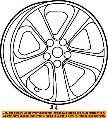 Dodge Chrysler Oem 15 16 Charger Wheel Alloy Aluminum 1zv90dd5ab