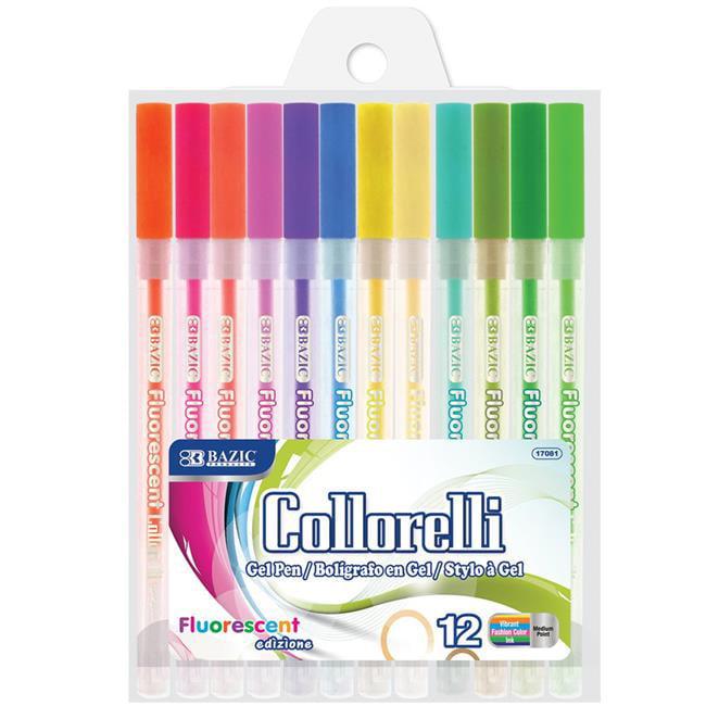 Bazic 2289673 12 Fluorescent Color Collorelli Gel Pen, Assortedcolor - Case of 144 - image 1 de 1