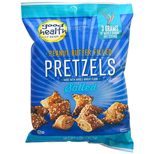 Good Health Natural Foods, Peanut Butter Filled Pretzels, Salted, 5 oz (141.7 g) Good... by Good Health Natural Foods