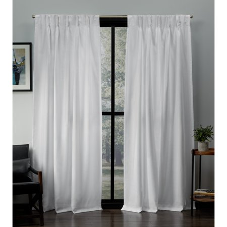 Exclusive Home Curtains 2 Pack Loha Linen Pinch Pleat Curtain Panels ()