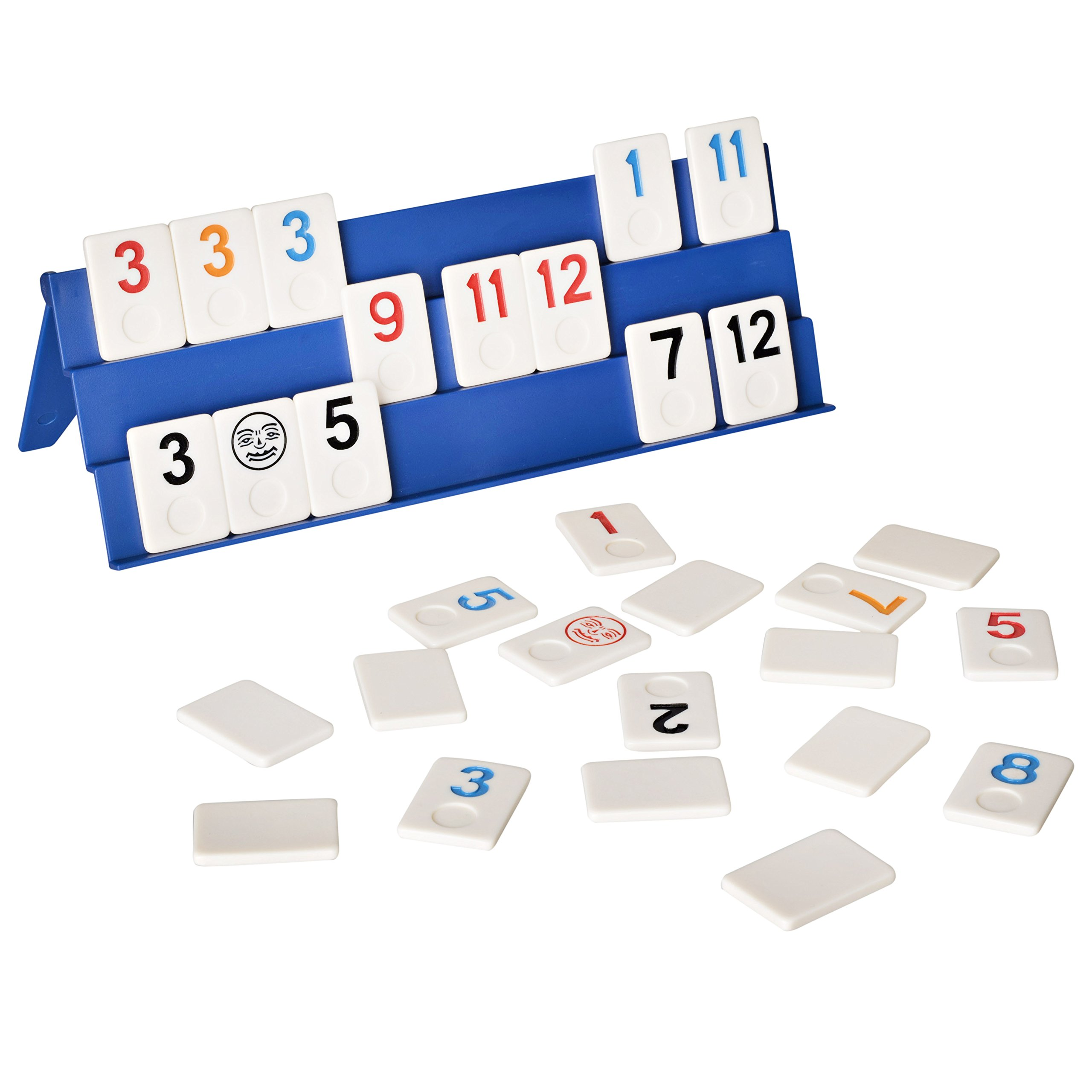 Point Games: Full Size Rummy Game with 3 Tier Exclusive Folding Boards in Super Durable Travel Bag.