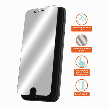 onn. Mirror Glass Screen Protector for iPhone 6, iPhone 6s, iPhone 7, iPhone 8, iPhone SE (2020)