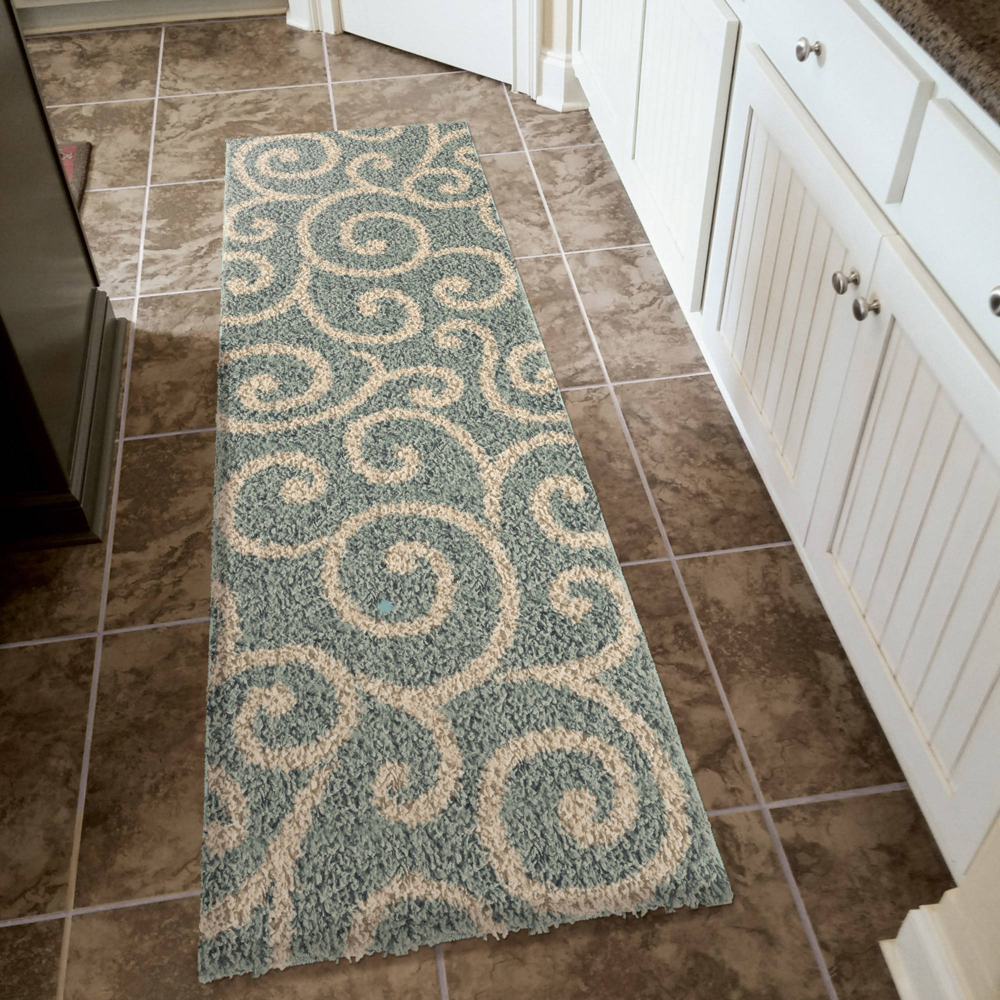 Better Homes and Gardens Swirls Soft Shag Area Rug or Runner by Orian Rugs