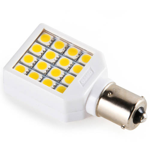 Camco 54610 1156/1073 Bright White Light LED Bulb with White Swivel Housing and Clear Lens