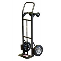 "Milwaukee 800 lb. Capacity 2-in-1 Convertible Hand Truck W/10"" Never Flat Tires"