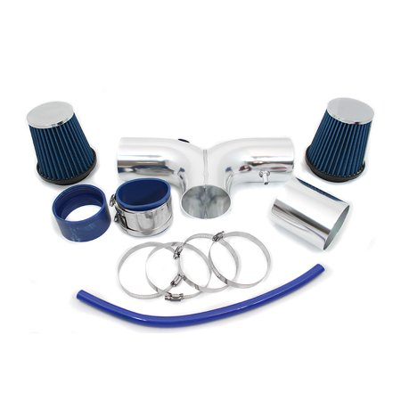 RL Concepts Blue Dual Short Ram Air Intake Kit + Filter 04-08 Dodge Ram 1500 Durango 1500 5.7L HEMI (Recommended Oil For Dodge Ram 1500 Hemi)