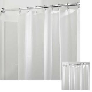 PACK of 2 No Chemical Smell Eco Friendly MOLD /& MILDEW Resistant 72 x 72 ODORLESS Smoke mDesign PEVA 3G Shower Curtain Liner PVC FREE