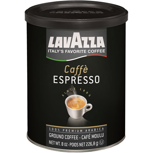 Lavazza Caffe Espresso Ground Coffee, 8 oz