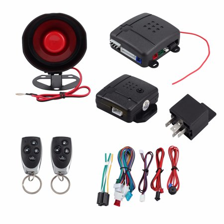 ESYNIC Car Alarm System Immobiliser with Two 4-Button Remotes Central  Locking Shock Sensor Keyless Entry Anti-Theft Security Kit