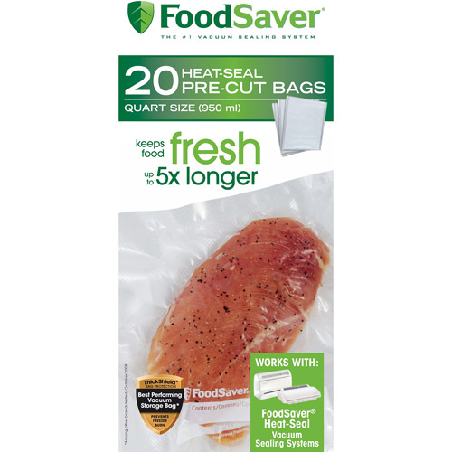 FoodSaver Quart-Size Bags, 20-Count