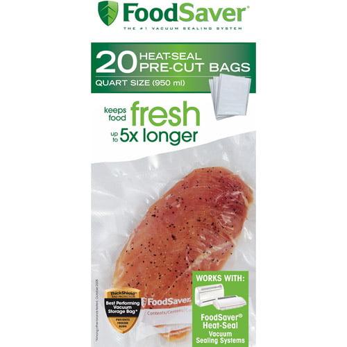FoodSaver Quart-Size Bags, 20-Count