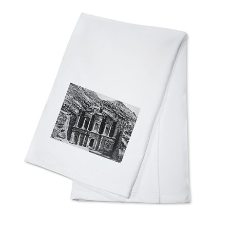 Tomb Carved in the Rock in Petra Photograph (100% Cotton Kitchen Towel)