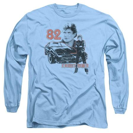 Knight Rider Sci-Fi TV Series Hasselhoff Kitt Consol Adult Long Sleeve T-Shirt