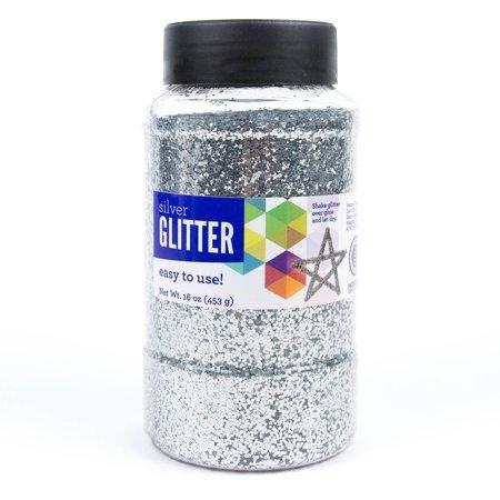 Shiny Glitter - Horizon Group USA Silver Glitter Paint, 16 Oz., 1 Each