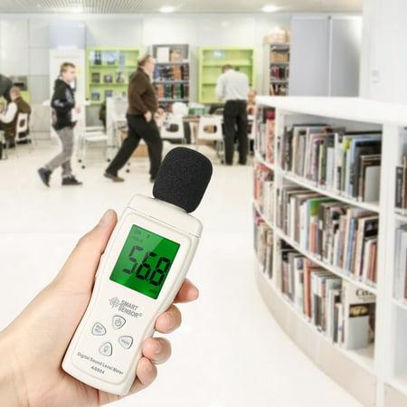 SMART SENSOR Mini Digital Sound Level Meter LCD Display Noise Meter Noise Measuring Instrument Decibel Tester 30-130dBA - image 2 de 7
