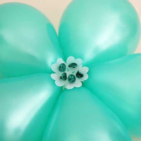 10pcs 5 In 1 Plum Flower Tie Latex Balloon Modelling Seal Clip Wedding Arrangement Birthday Party Event Decoration
