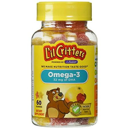 L'il Critters DHA Omega-3 Gummies, 32 Mg, 60 Ct, 6 Pack ()