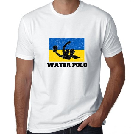 Ukraine Olympic - Water Polo - Flag - Silhouette Men's T-Shirt