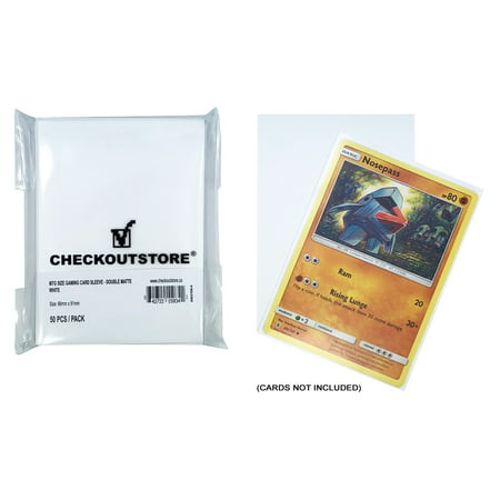 (100) CheckOutStore Protective Sleeves for Trading Cards (66 x 91 mm) (Double Matte White)