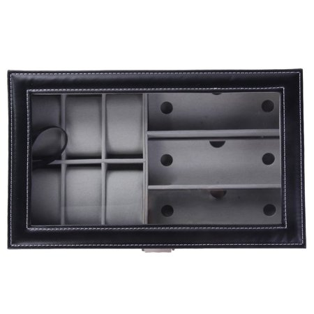 Single Layer 6 Grids Watches Storage Boxes And 3 Grids Glasses Organizers - image 7 of 12