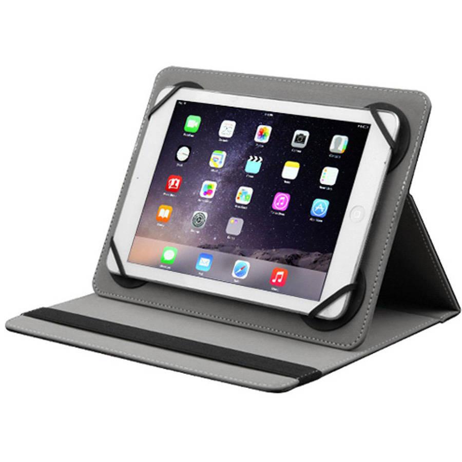 "AMZER Universal Adjustable Tablet Leather Flip Folio Stand Case, 7-8"""