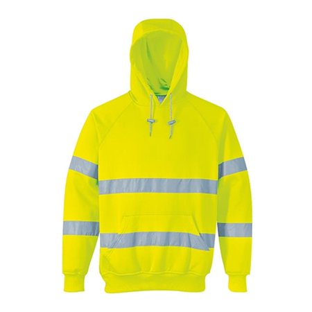 Portwest B304 2XL Hi-Visibility Hooded Sweatshirt, Yellow - Regular - image 1 of 1