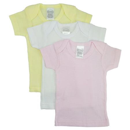 Girls Pastel Variety Short Sleeve Lap T-shirts - 3 Pack (Girls Three Pack)