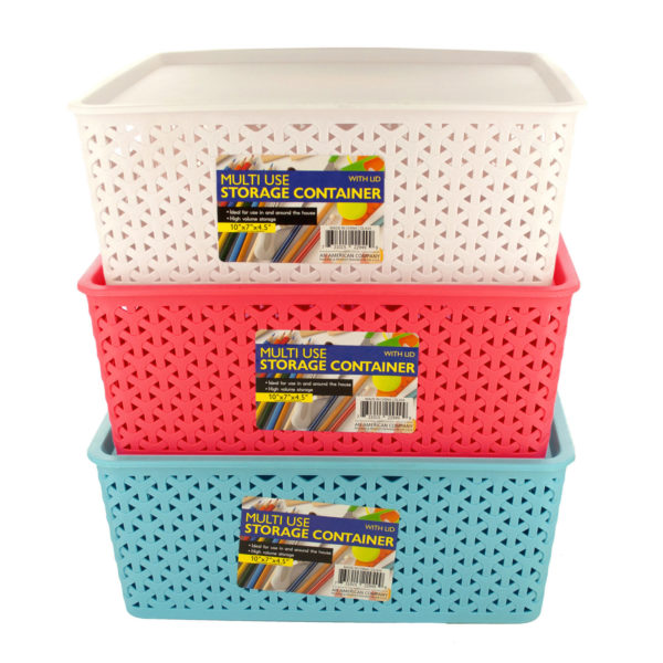 Multi-Use Home Storage Container with Lid