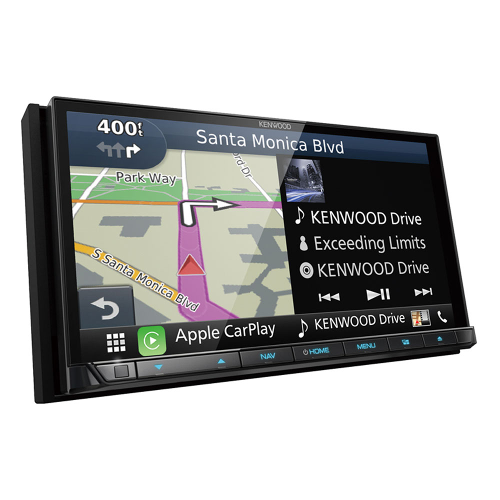 """Kenwood DNX874S 6.95"""" Double-Din In-Dash Navigation DVD Receiver With Bluetooth, Apple Carplay, Android Auto, HD... by Kenwood"""