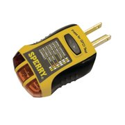 GFI6302 GFCI Outlet / Receptacle Tester, Standard 120V AC Outlets, 7 Visual Indication / Wiring Legend, Home & Professional Use, Yellow & Black, Durable: Hi-Impact.., By Sperry Instruments