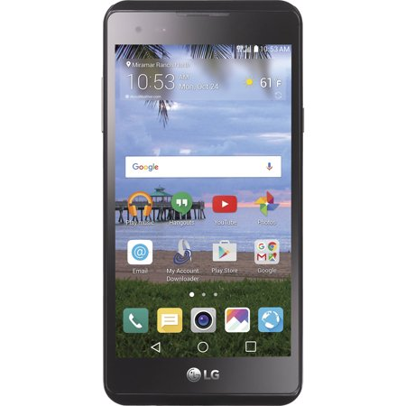 Straight Talk LG X Style 8GB Prepaid Smartphone, Black