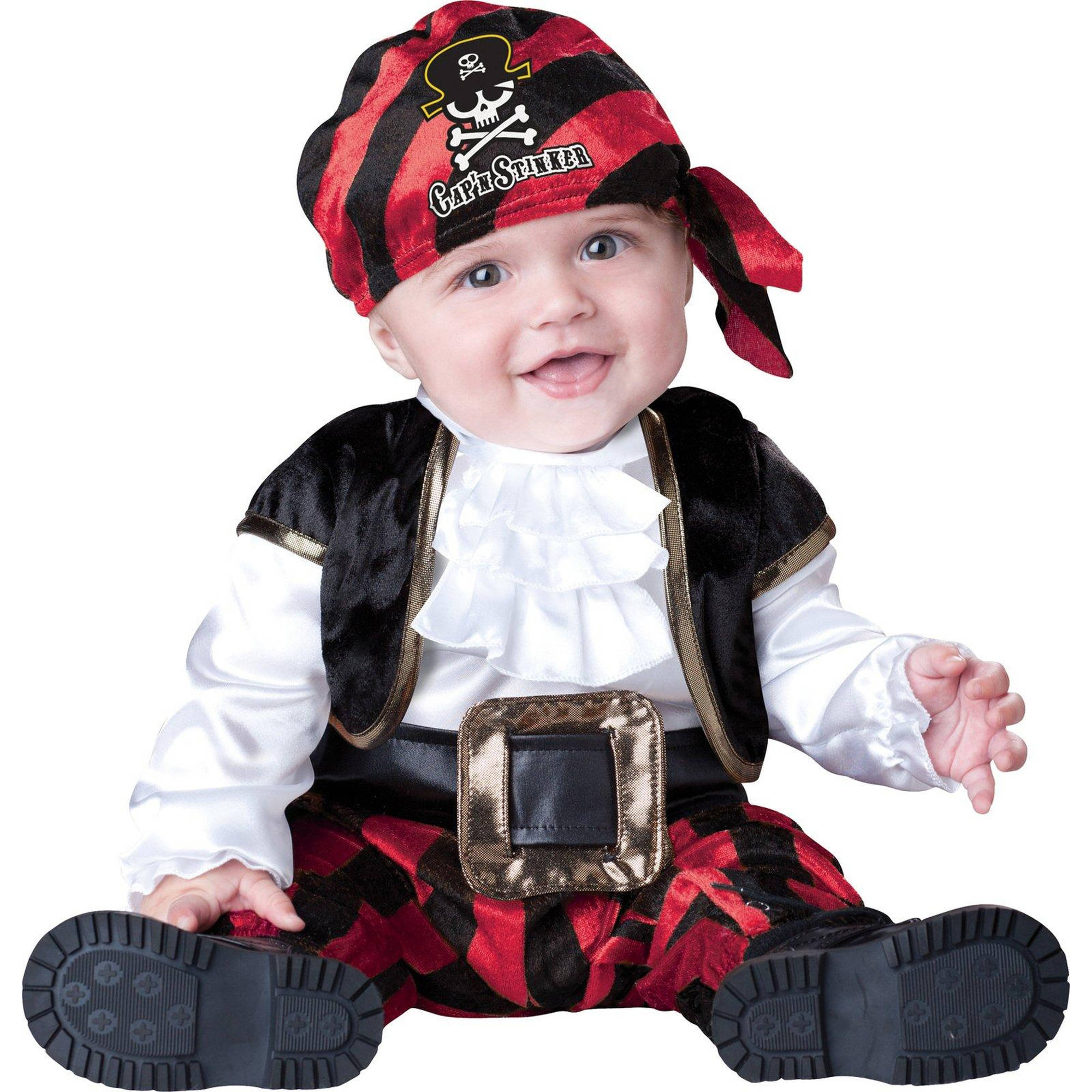 Cap'n Stinker Pirate Infant Halloween Costume, 6-12 Months by Generic