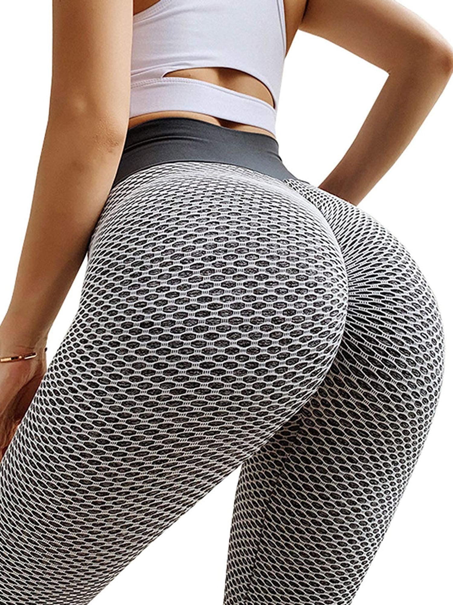 Womens High Waist Yoga Shorts Tummy Control Slimming Booty Leggings Workout Running Butt Lift Pants