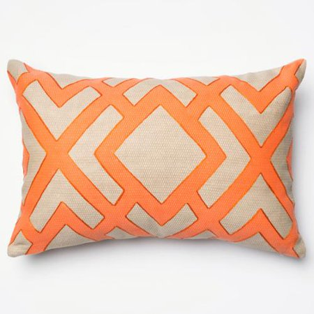 Down Throw Pillow Covers : Alexander Home Printed Geometric Beige/ Orange Down Feather or Polyester Filled Throw Pillow or ...