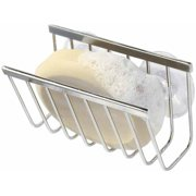 interdesign gia kitchen sink suction holder for sponges scrubbers soap polished stainless steel - Kitchen Sink Holder