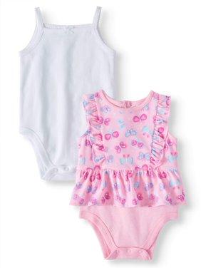 6755eae99b2 Product Image Baby Girls  Solid Cami and Ruffle Peplum Bodysuits