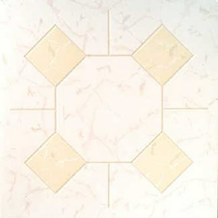 Home Dynamix Madison Vinyl Tiles - 6211 Ivory Marble Diamond - (1-Pack, 12
