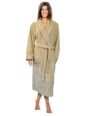 Product Image Napa Women s Super Soft Warm Microfiber Fleece Plush Bathrobe  Hotel Spa Robe with Pockets ee9b5e639