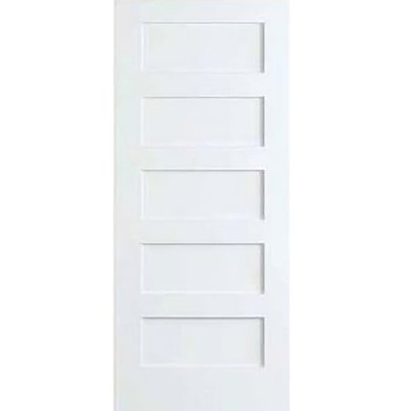 Kimberly Bay Paneled Solid Wood Primed Shaker Standard Door