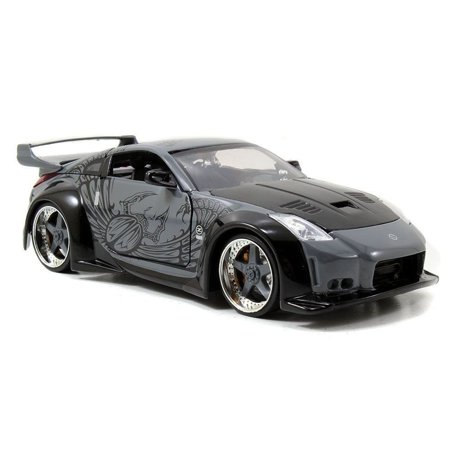 New 1:24 DISPLAY - Fast & Furious - TOKYO DRIFT - D.K.'S GREY NISSAN 350Z Diecast Model Car By Jada