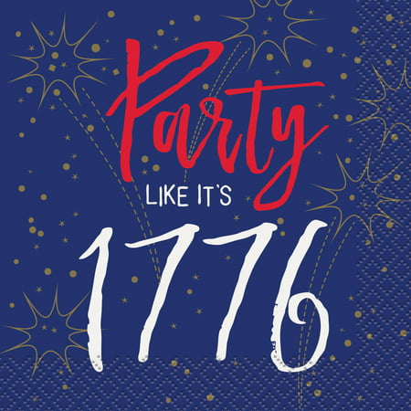 4th of July 'Party Like It's 1776' Small Napkins (16ct)](Fourth Of July Plates)