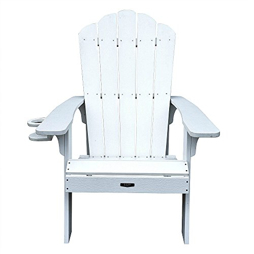 4 Adirondack Chairs White All Weather Polyresin Lumber Traditional Wide Arm  Rests, Curved Seat, High Back Island Retreat   Walmart.com