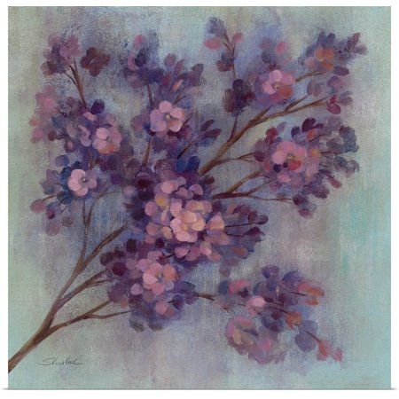 Great BIG Canvas | Rolled Silvia Vassileva Poster Print entitled Twilight Cherry Blossoms (Square One Mal)